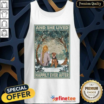 Top Welsh Terrier And She Lived Happily Ever After Poster Tank Top