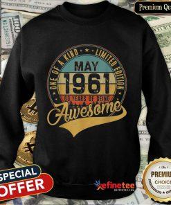 Awesome May 1961 Vintage Sweatshirt