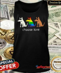 Dog Choose Love LGBT Tank Top