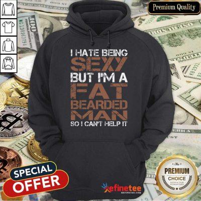 Fat Bearded Man Hoodie