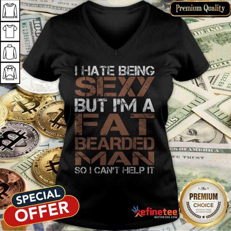 Fat Bearded Man V-neck