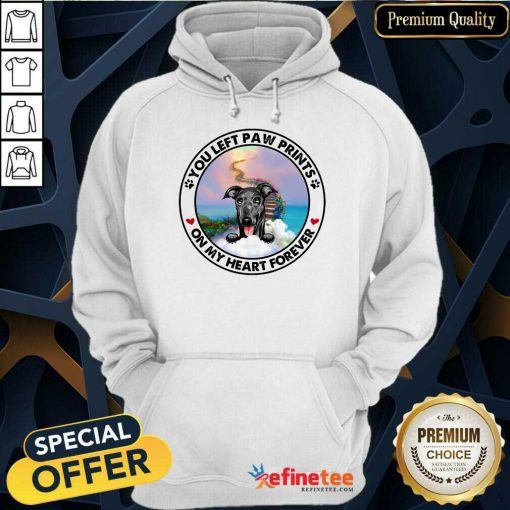 Greyhound On My Heart Forever Hoodie