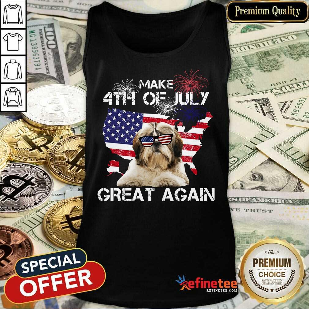 Make 4th Of July Yorkshire Terrier Tank Top