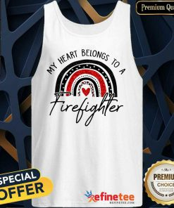 My Heart Belong To A Firefighter Tank Top