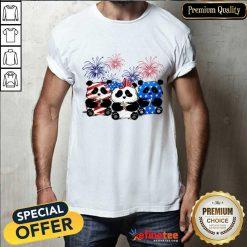 Panda American Flag Firework Shirt
