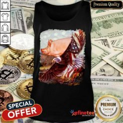 Pig And Eagle American Flag Tank Top