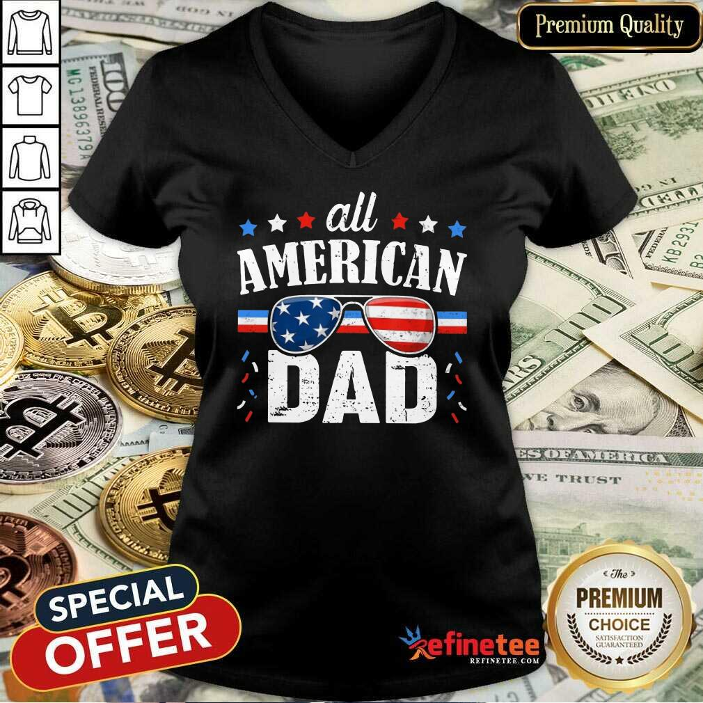 All American Dad 4th Of July V-neck