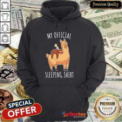 Alpaca My Official Sleeping Hoodie