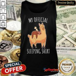 Alpaca My Official Sleeping Tank Top