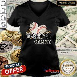 Baseball Gammy V-neck