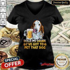 Basset Hound Hold My Drink V-neck