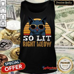 Cat So Lit Right Meow Vintage Tank Top