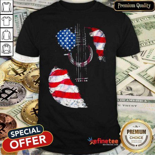 Guitar American Flag Shirt
