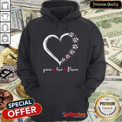 Heart Peace Love Rescue Hoodie