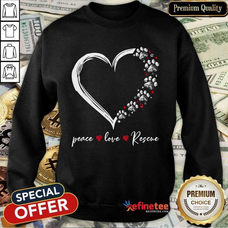 Heart Peace Love Rescue Sweatshirt