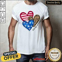 Heart USA Leopard 2nd Grade Teacher Shirt