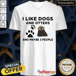 I Like Dog And Otter V-neck