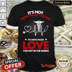 It's Not How Much You Do Love Shirt