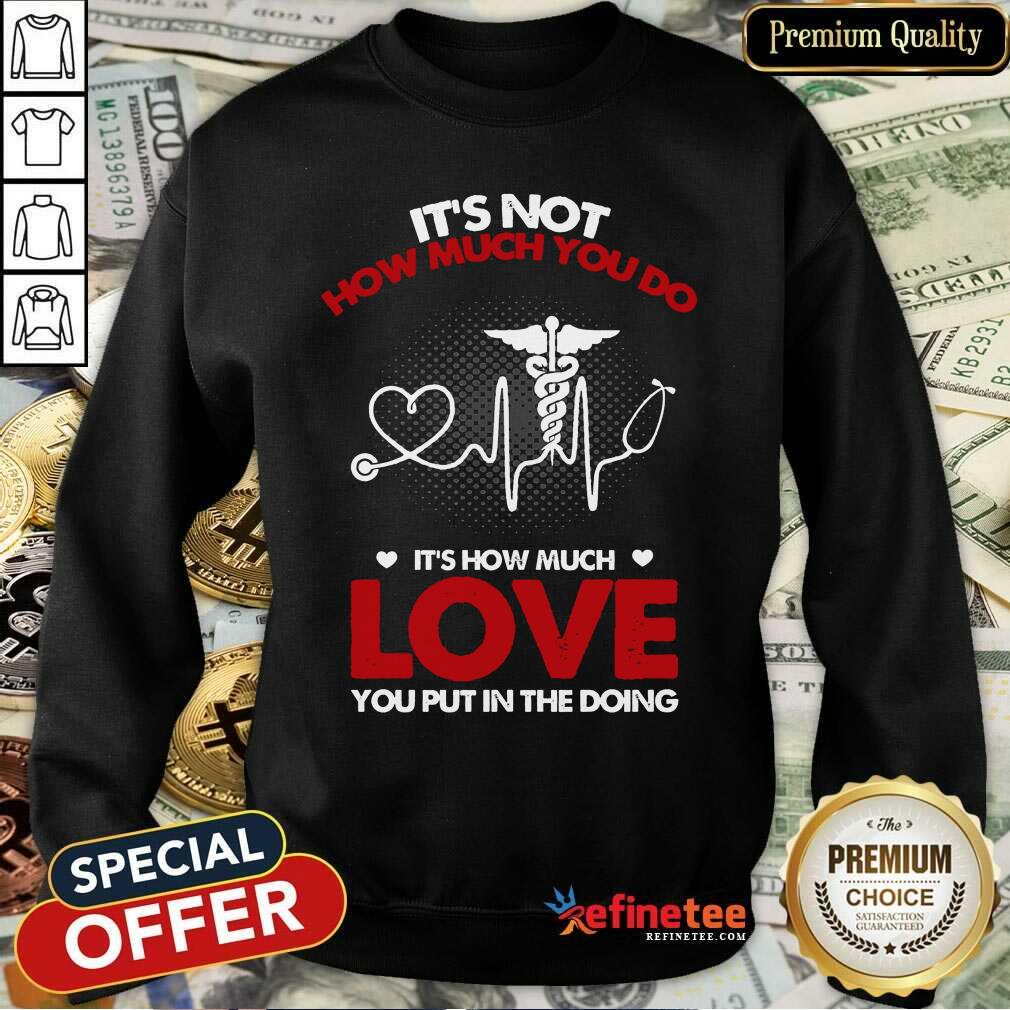It's Not How Much You Do Love Sweatshirt
