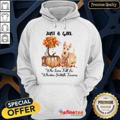 Just A Girl Who Loves Fall And Wheaten Scottish Terrier Hoodie