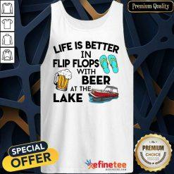 Life Is Better Flip Flops Beer Lake Tank Top