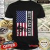 Motorcycle American Flag Best Dad Ever Shirt