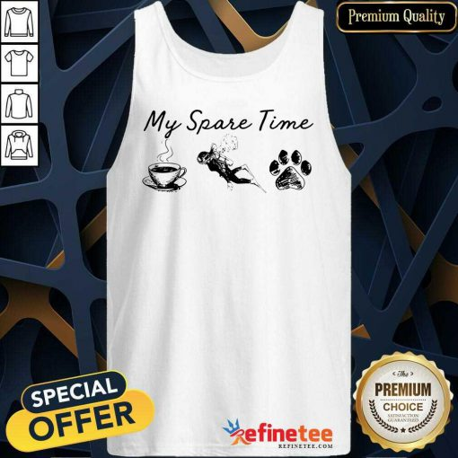 My Spare Time Coffee Swimming Paw Tank Top
