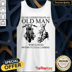 Old Man Loves Motorcycles And Climbing Tank Top