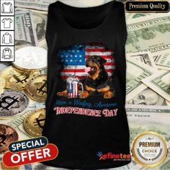 Rottweiler Independence Day Tank Top