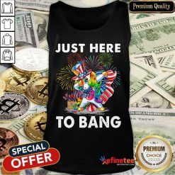 Unicorn Just Here To Bang Tank Top