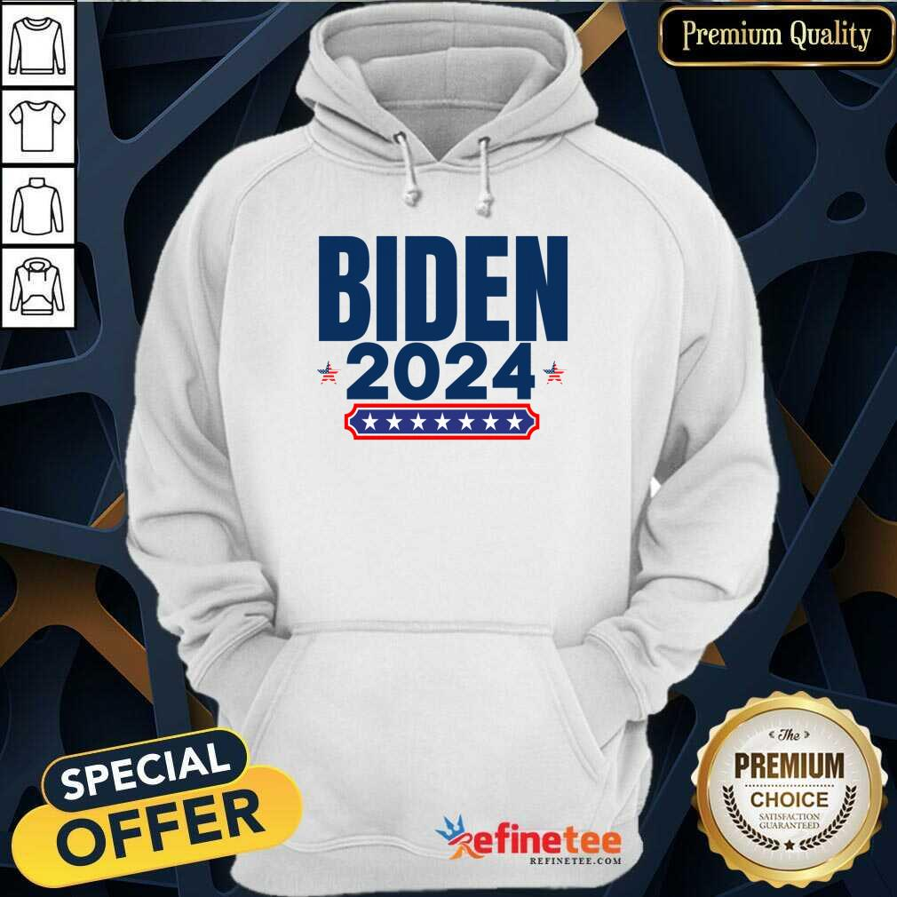 Biden 2024 Stars And Stripes Red White And Blue Hoodie