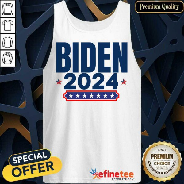 Biden 2024 Stars And Stripes Red White And Blue Tank Top