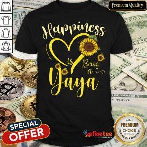 Heart Sunflower Happiness Is Being A Yaya Shirt