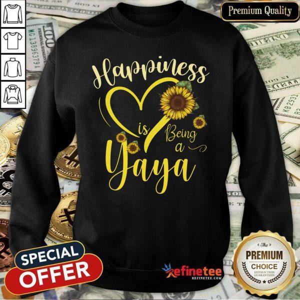 Heart Sunflower Happiness Is Being A Yaya Sweatshirt