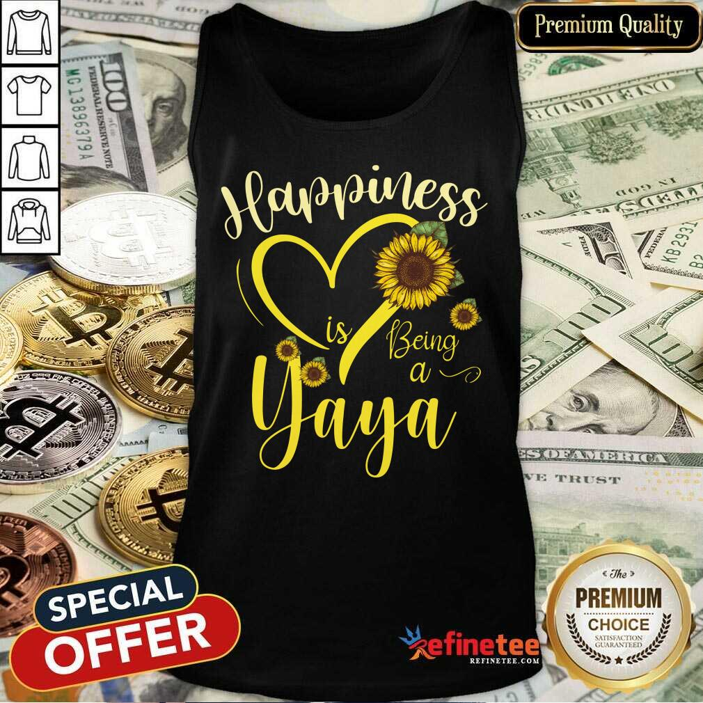 Heart Sunflower Happiness Is Being A Yaya Tank Top