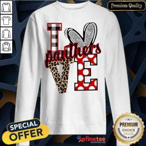 Hot I Love Panthers Love Sweatshirt