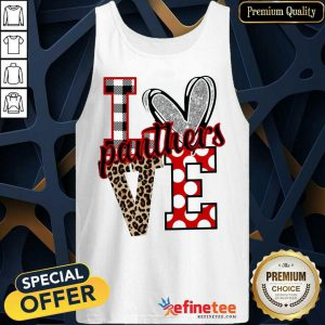 Hot I Love Panthers Love Tank Top