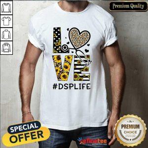 Love Sunflower Nurse Medical Stethoscope DSP Life Shirt