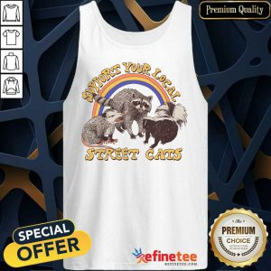 Raccoon Support Your Local Street Cats Tank Top