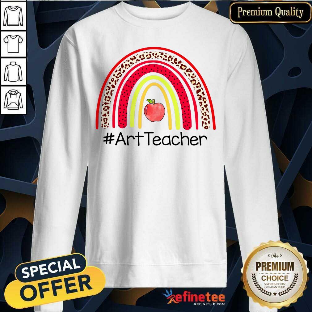 Rainbow Apple Art Teacher Sweatshirt