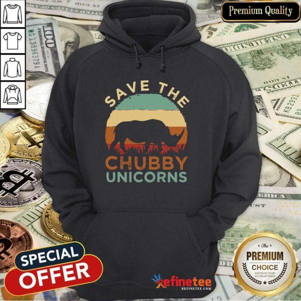 Top Save The Chubby Unicorns Vintage Hoodie