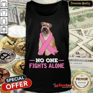Wheaten Terriers No One Fights Alone Breast Cancer Awareness Tank Top